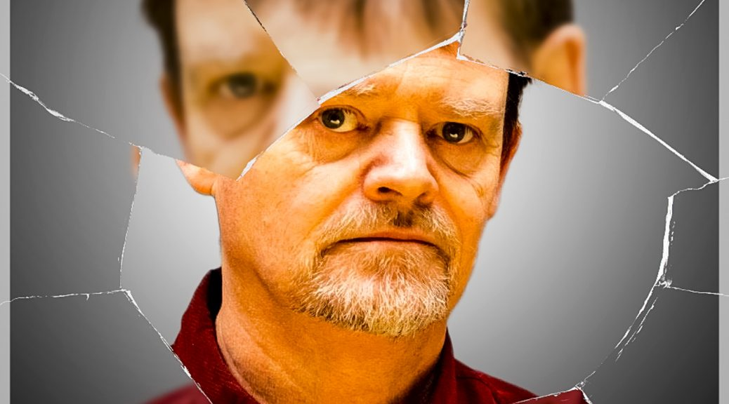 Cracked Actor, a piece by Carl Green