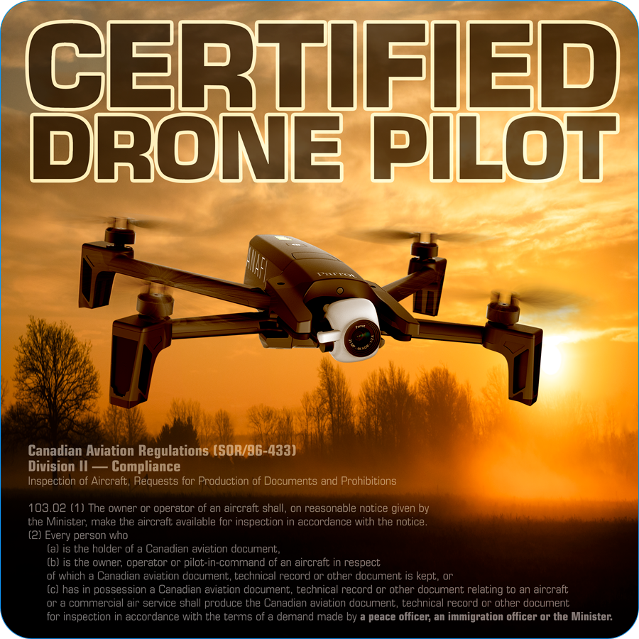 Certified Drone Pilot - Licensed To Fly