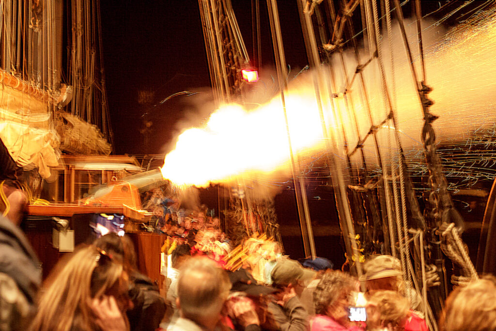 Empire Sandy fires the canon to start Canal Days